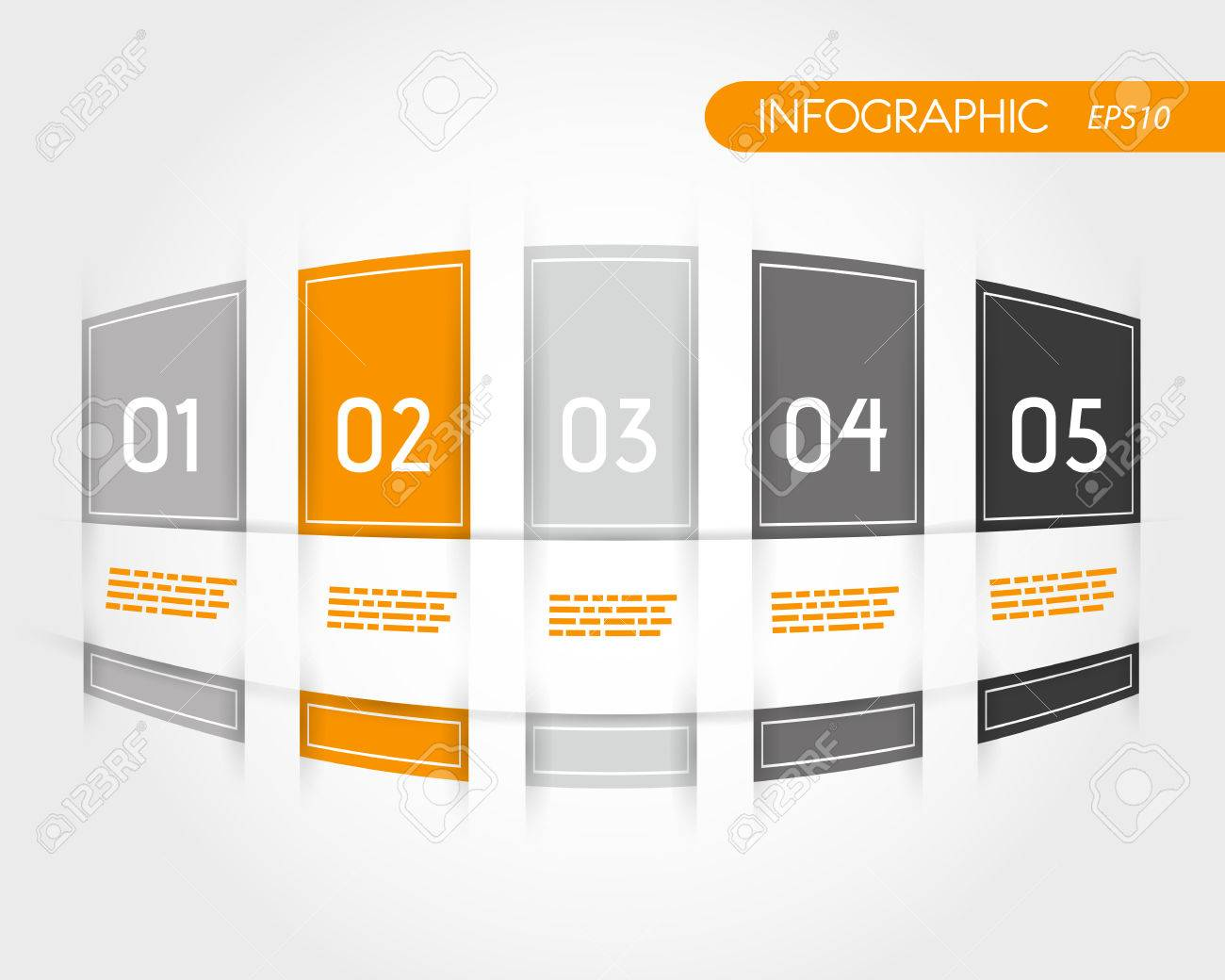 orange rounded infogrpahics with fringe. infographic concept. Stock Vector - 22296184