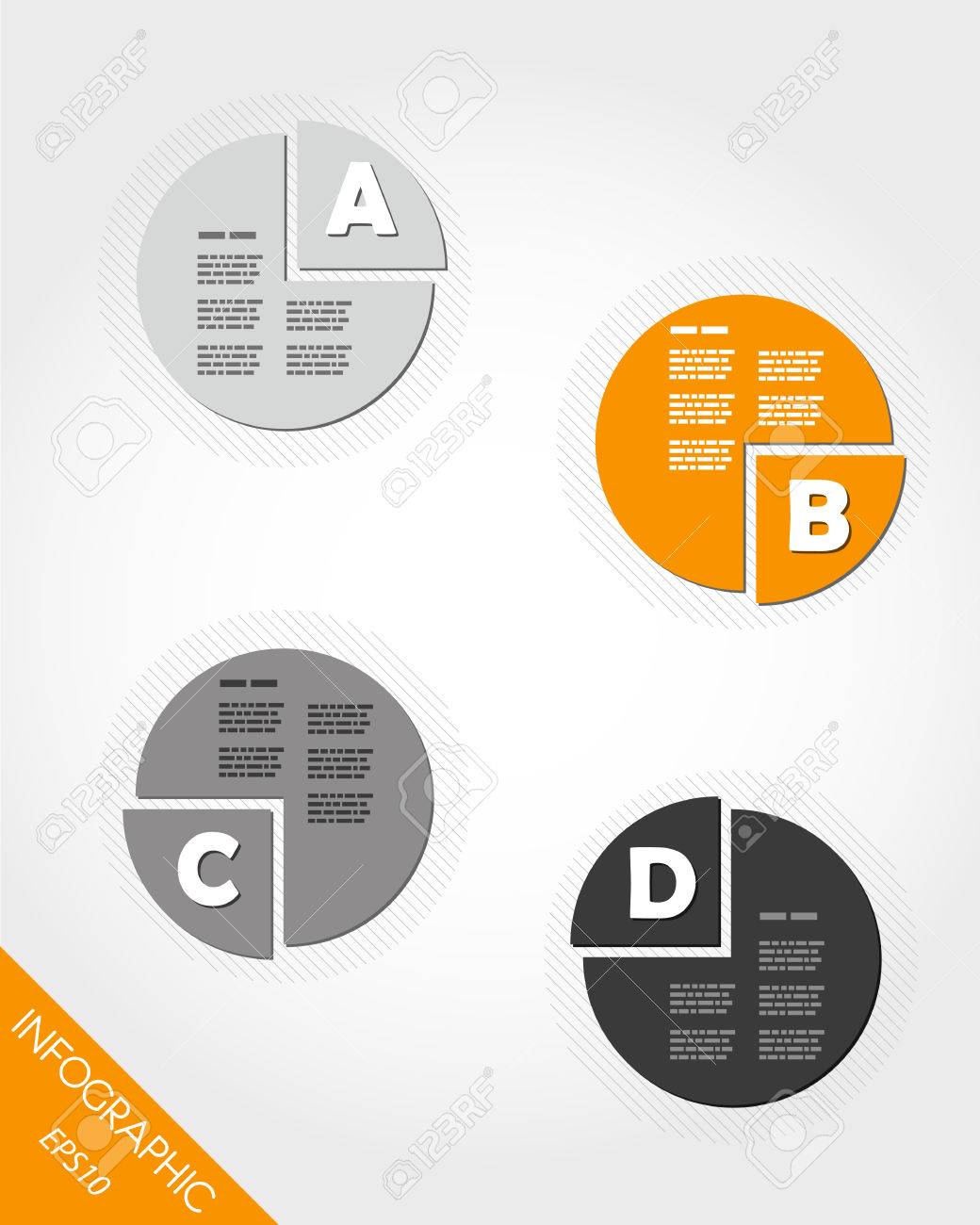 orange cake infographic with letters. infographic concept. Stock Vector - 22395818