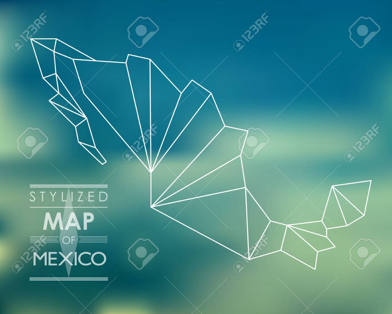 stylized map of mexico map concept royalty free cliparts vectors