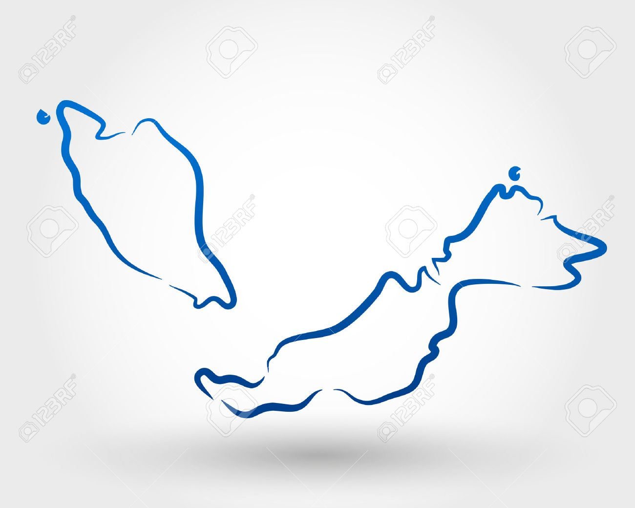 Map Of Malaysia Map Concept Royalty Free Cliparts Vectors And