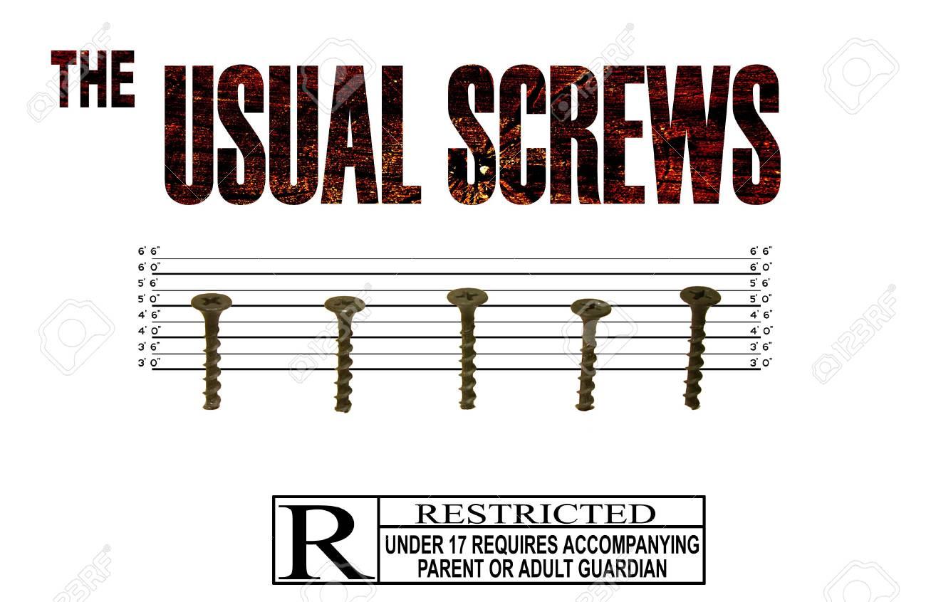 Screws in Line Up Stock Photo - 269508