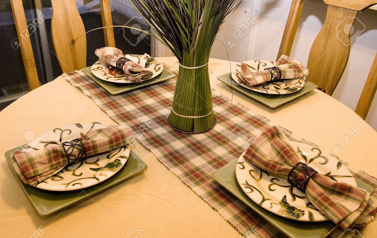 Decorated Setup Dinner Table Stock Photo Picture And Royalty Free