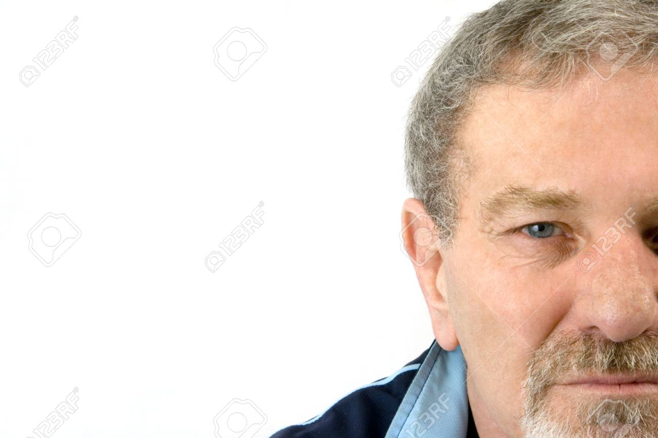Isolated close up on the face of an elder man Stock Photo - 2781397