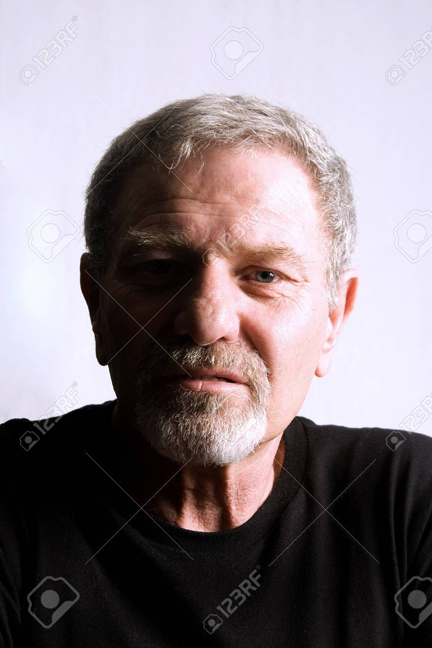 Isolated close up on the face of an elder man Stock Photo - 3268982