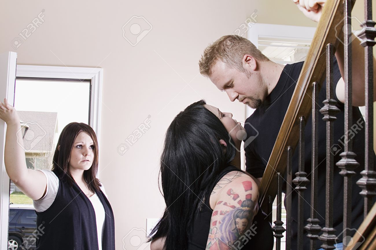 Wife Coming Home Finding Her Husband Cheating with another Woman
