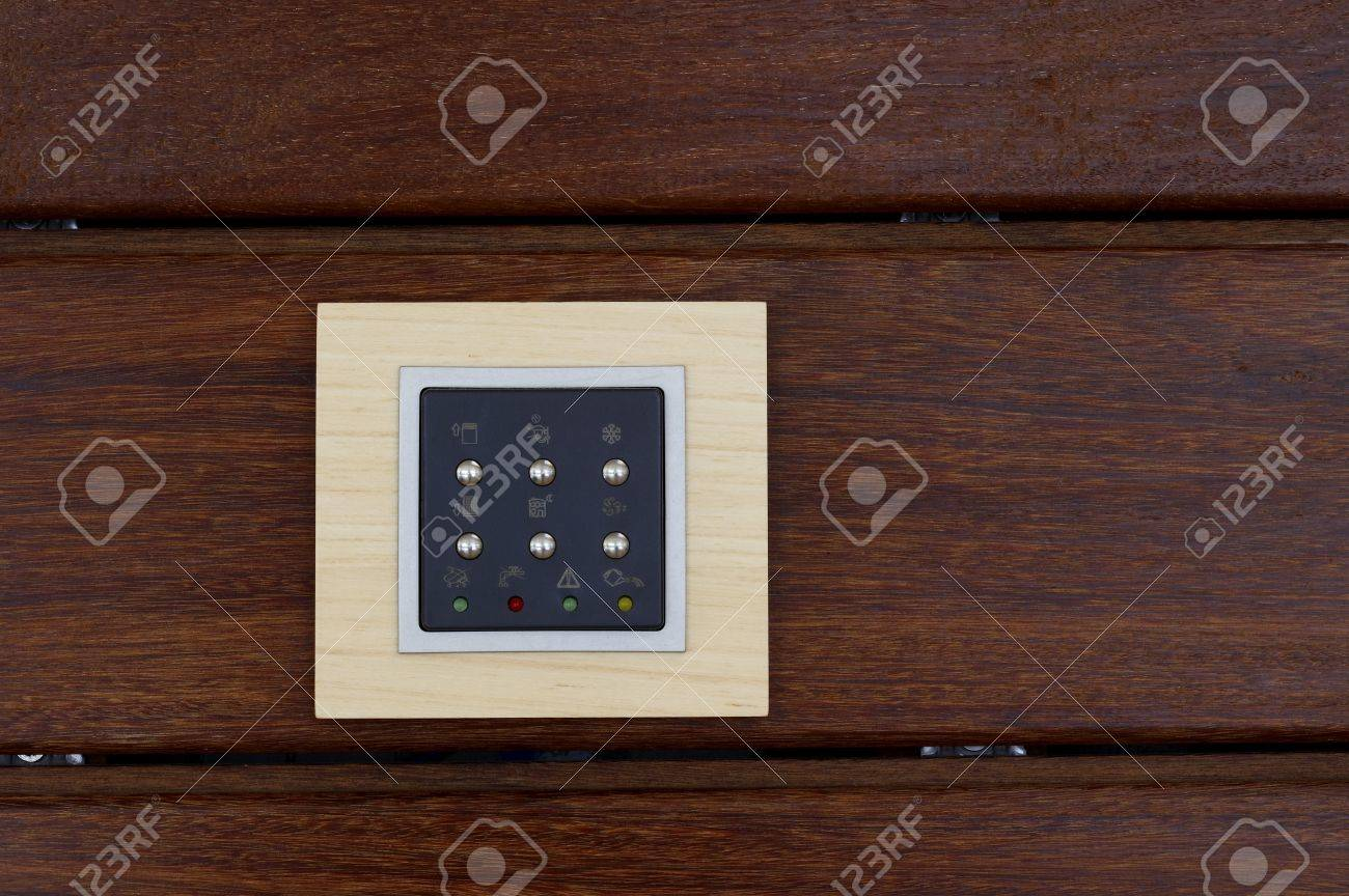 Switch board on wooden plank Stock Photo - 7174988