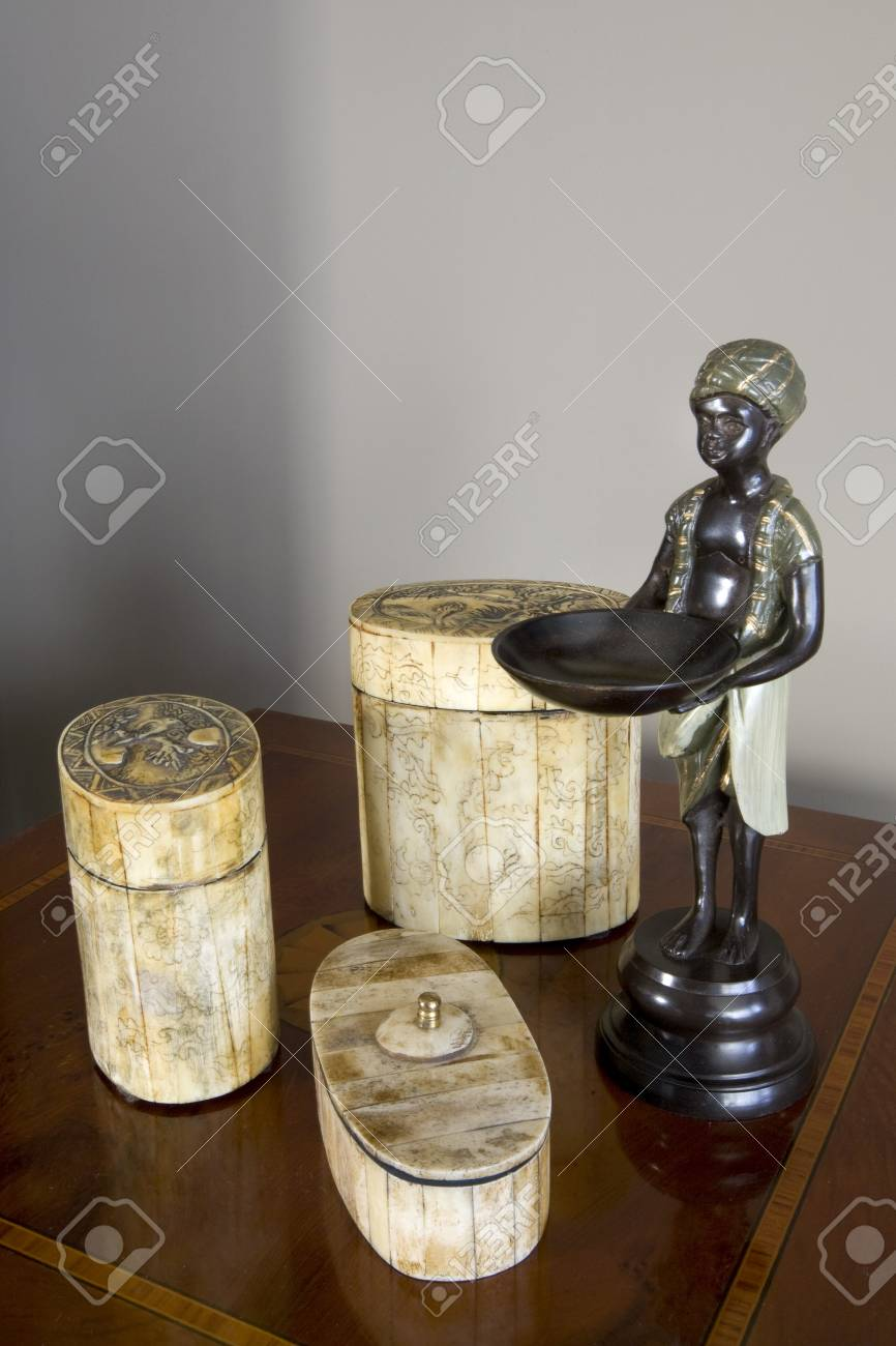 Close-up of showpieces on a sideboard Stock Photo - 7174919