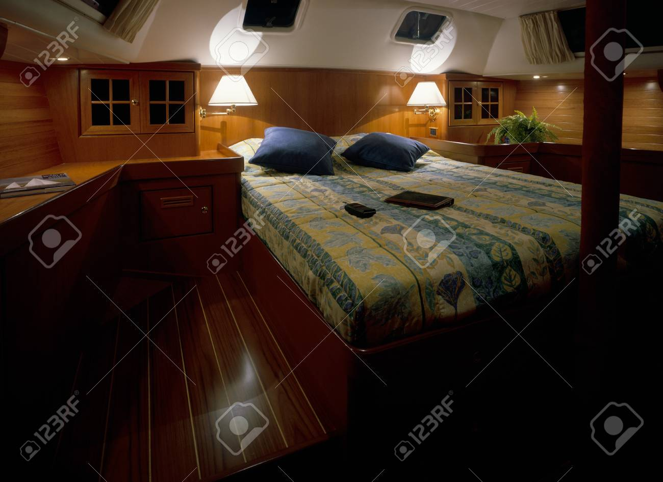 View of an illuminated bedroom Stock Photo - 7215085