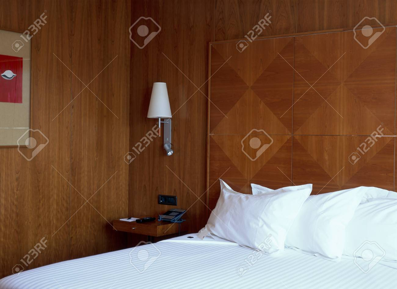 Partial view of a comfortable bed Stock Photo - 7215090
