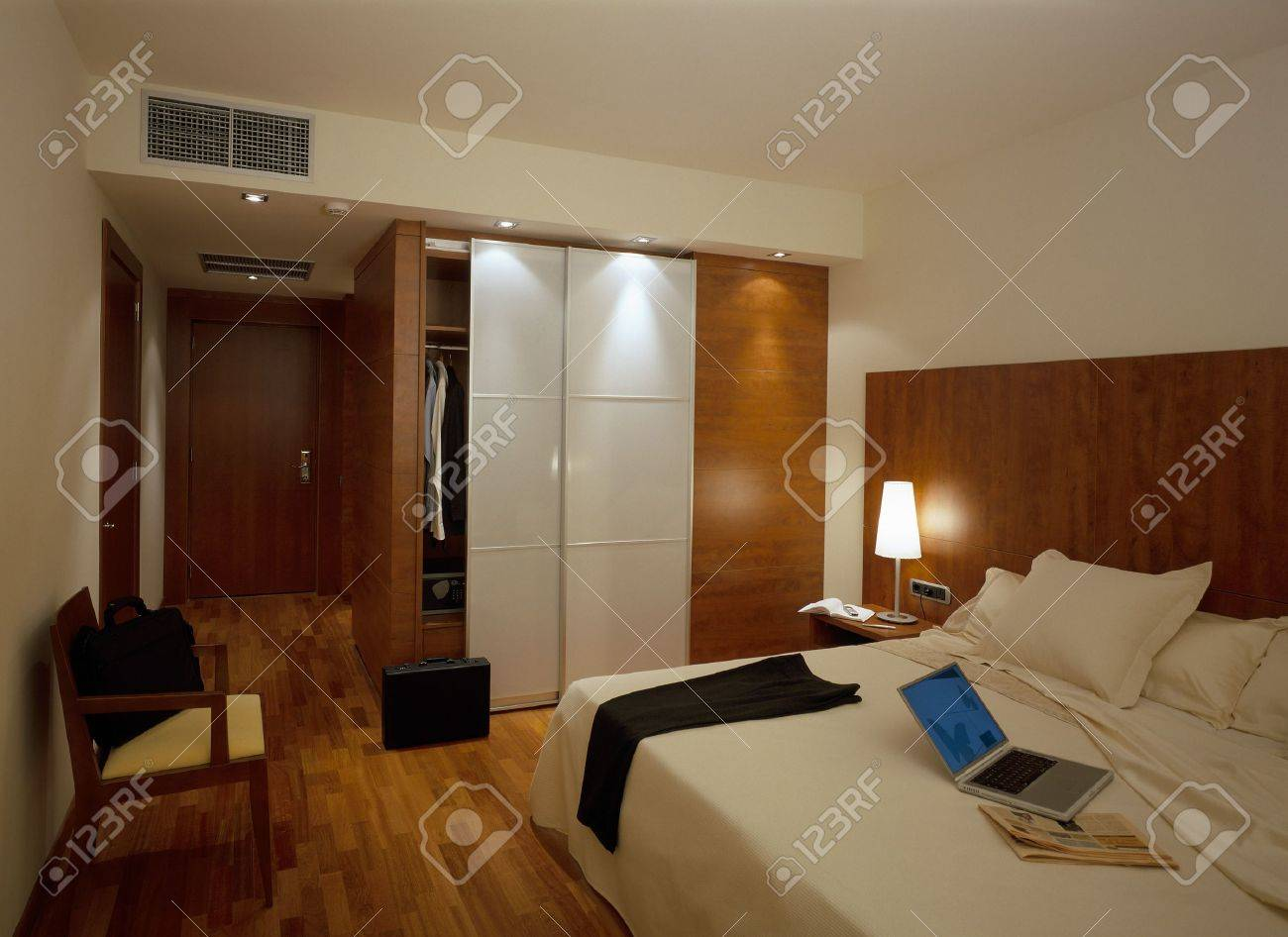 View of an illuminated bedroom Stock Photo - 7215092
