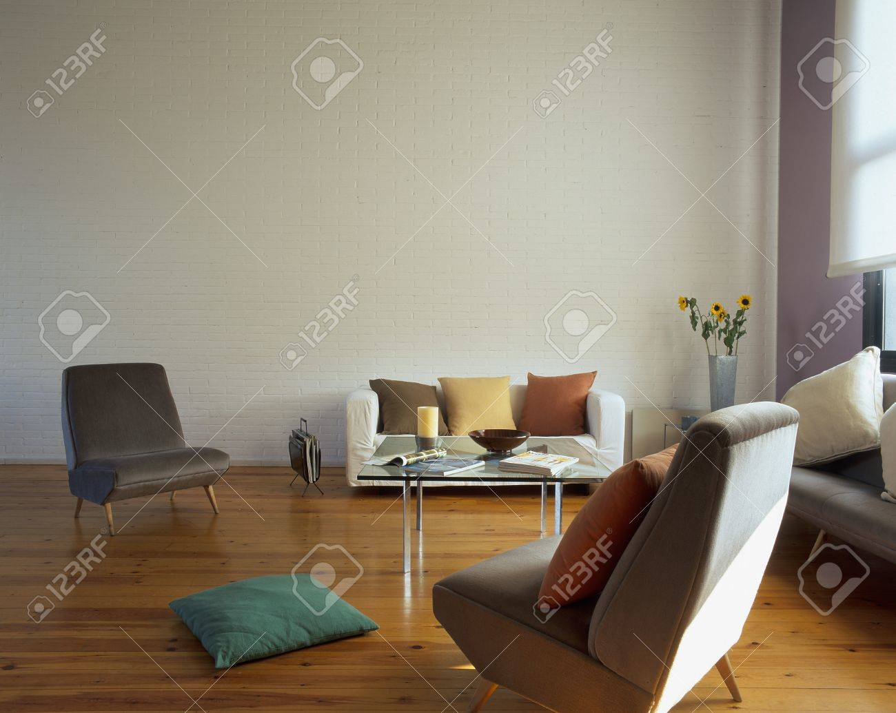 View of a spacious living room Stock Photo - 7215128