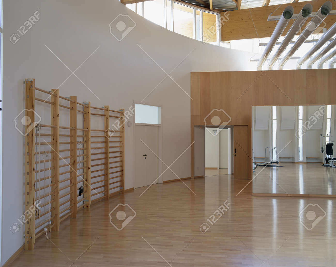 View of a spacious equipped gym Stock Photo - 7224077