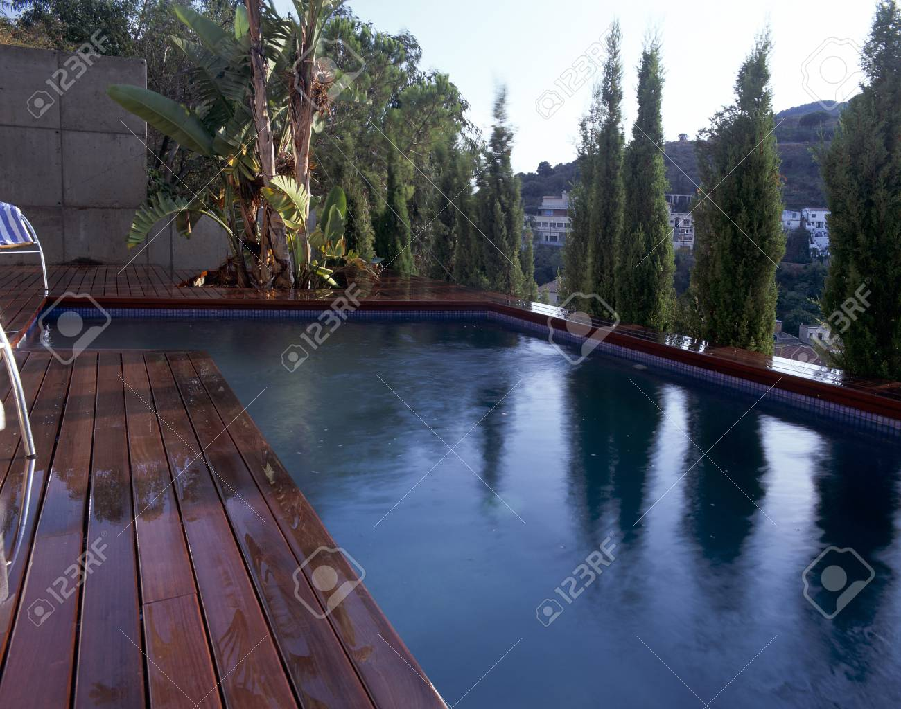 Partial view of a swimming pool Stock Photo - 7224178
