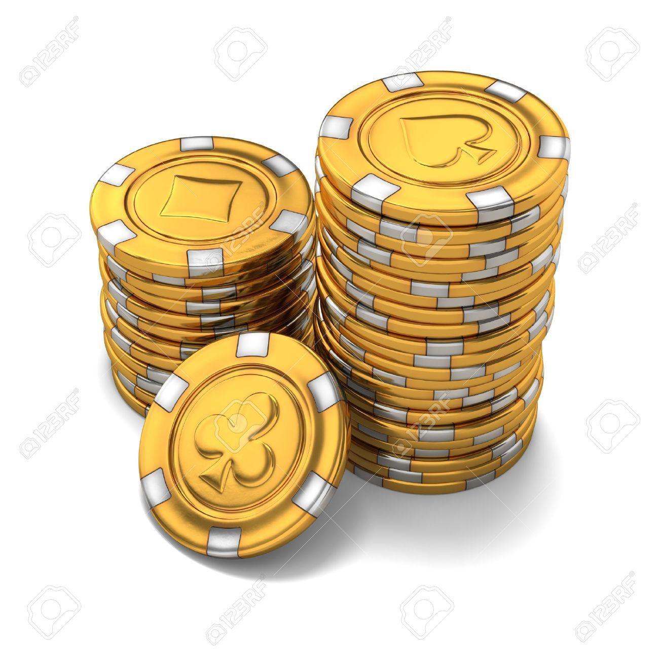 Gold casino chips casino trac