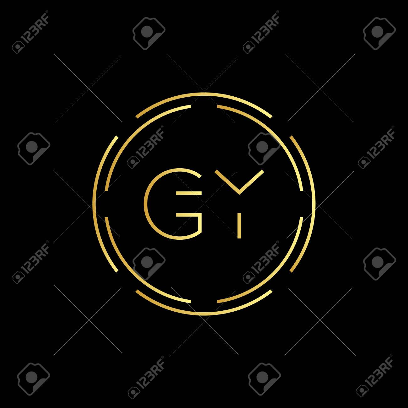 Initial Letter GY Creative Logo Design vector Template. Digital Luxury Letter GY logo Design - 146257528