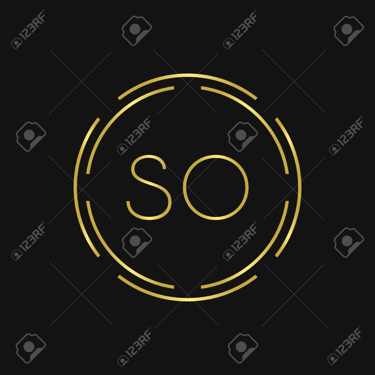 Initial SO Logo Design Creative Typography Vector Template. Digital Abstract Letter SO Logo Vector Illustration - 146258218