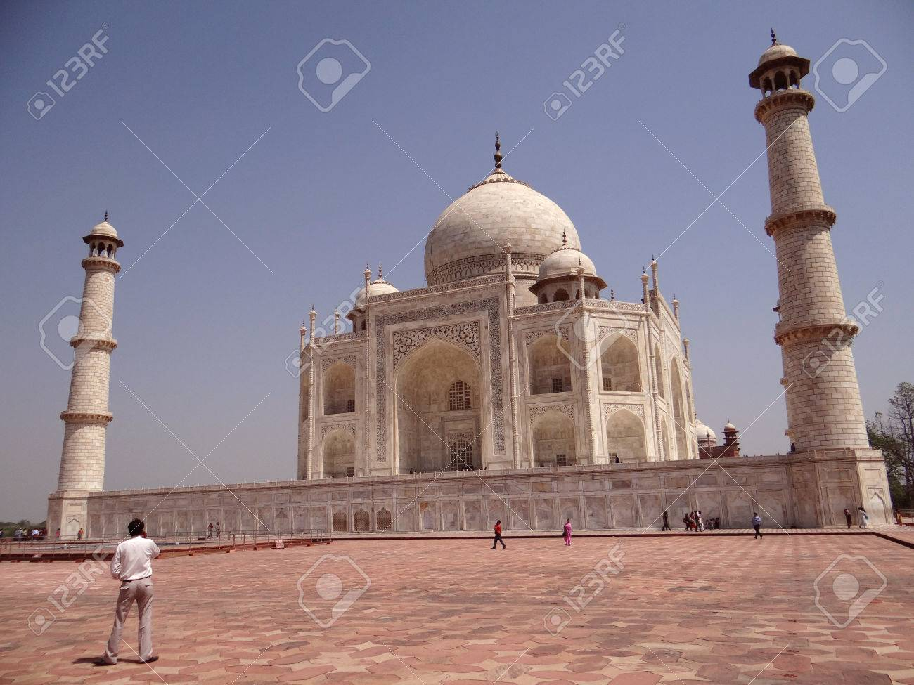 World Famous Symbol Of Love The Taj Mahal Is A White Marble Stock