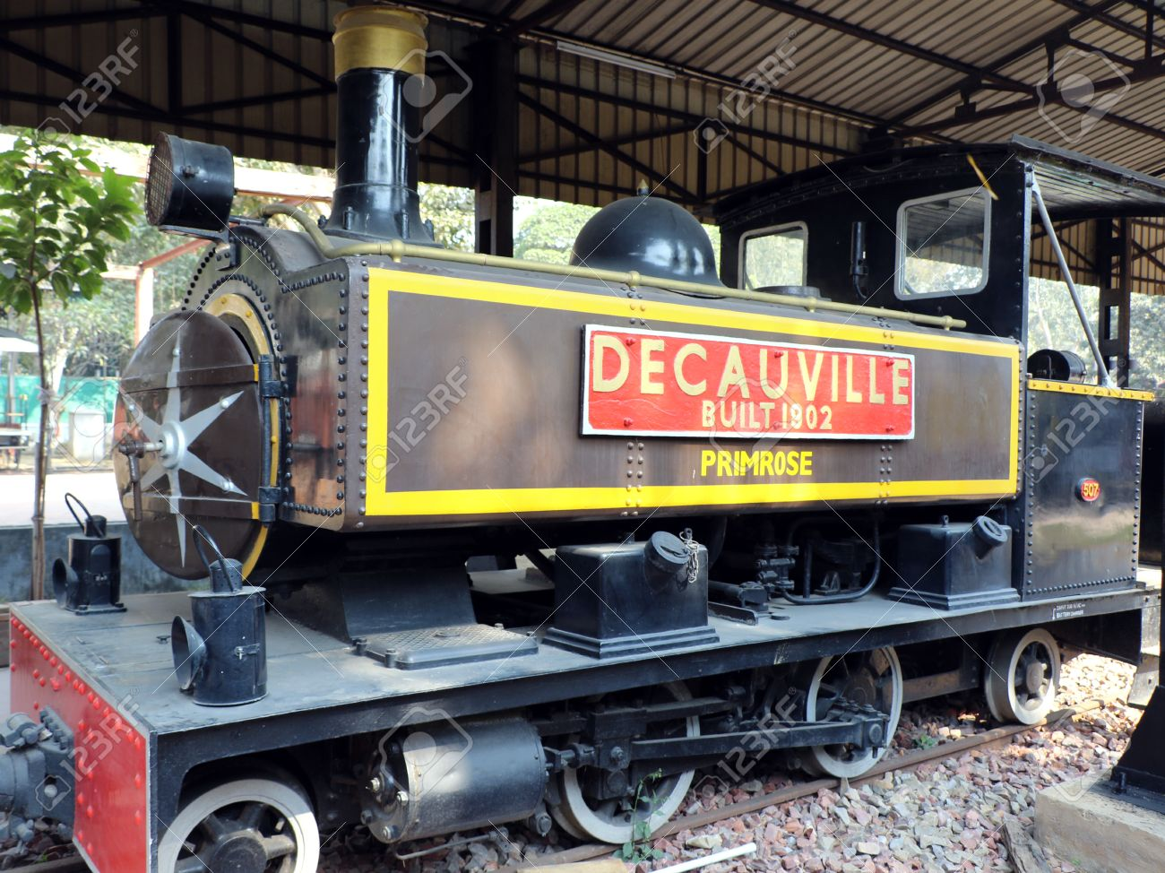 antique rail engine in national rail museum new delhi one can