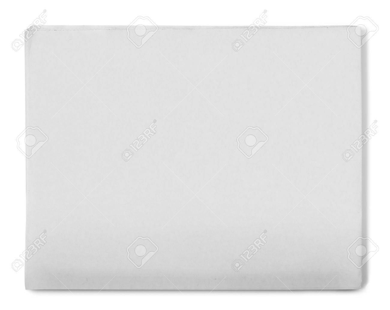 Blank Grey Newspaper On White Background Stock Photo Picture And