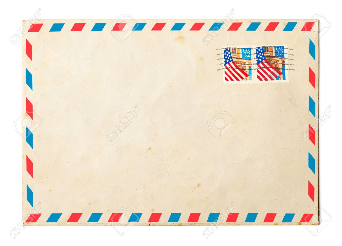 vintage envelope on white background stock photo picture and