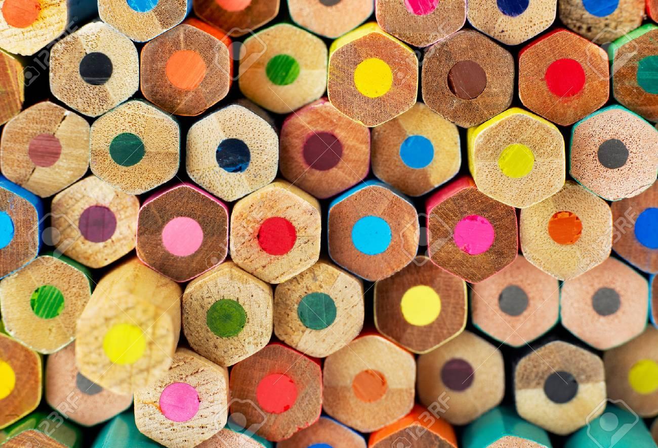 Multi-colored pencils on white background Stock Photo - 32348237
