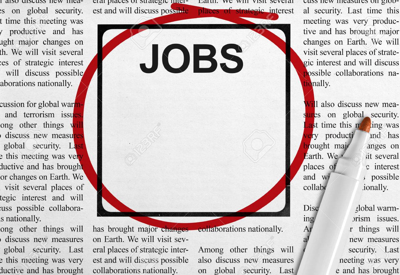 Job Ad In Newspaper Stock Photo, Picture And Royalty Free Image ...