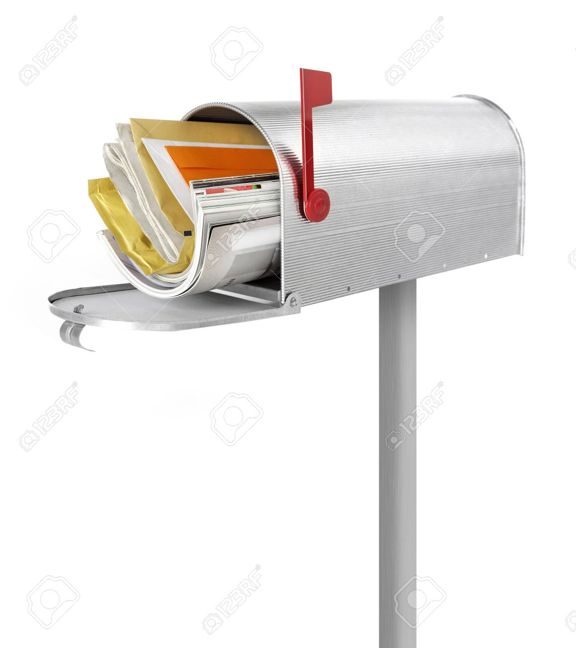 full mailbox. Full Mailbox Stock Photo - 39718547