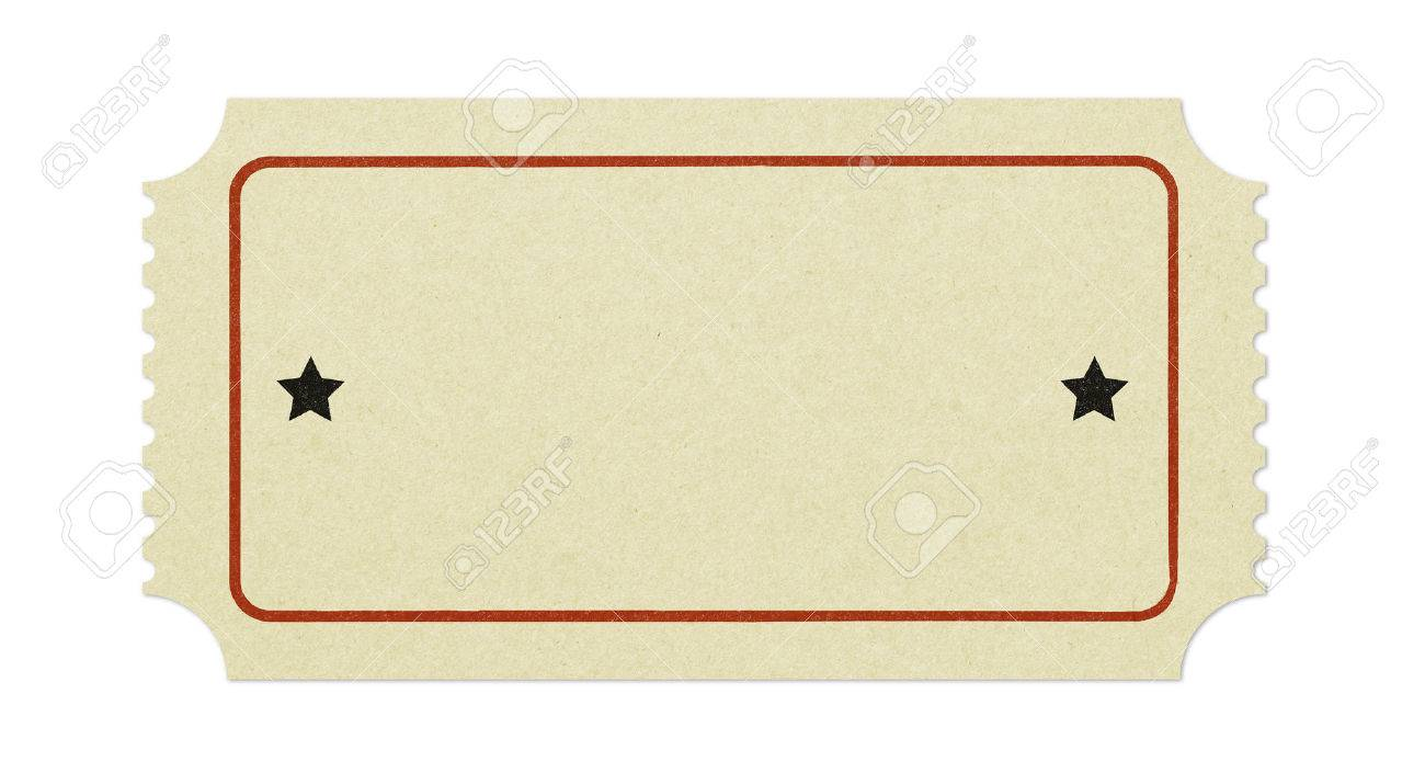 old blank ticket stock photo picture and royalty free image image
