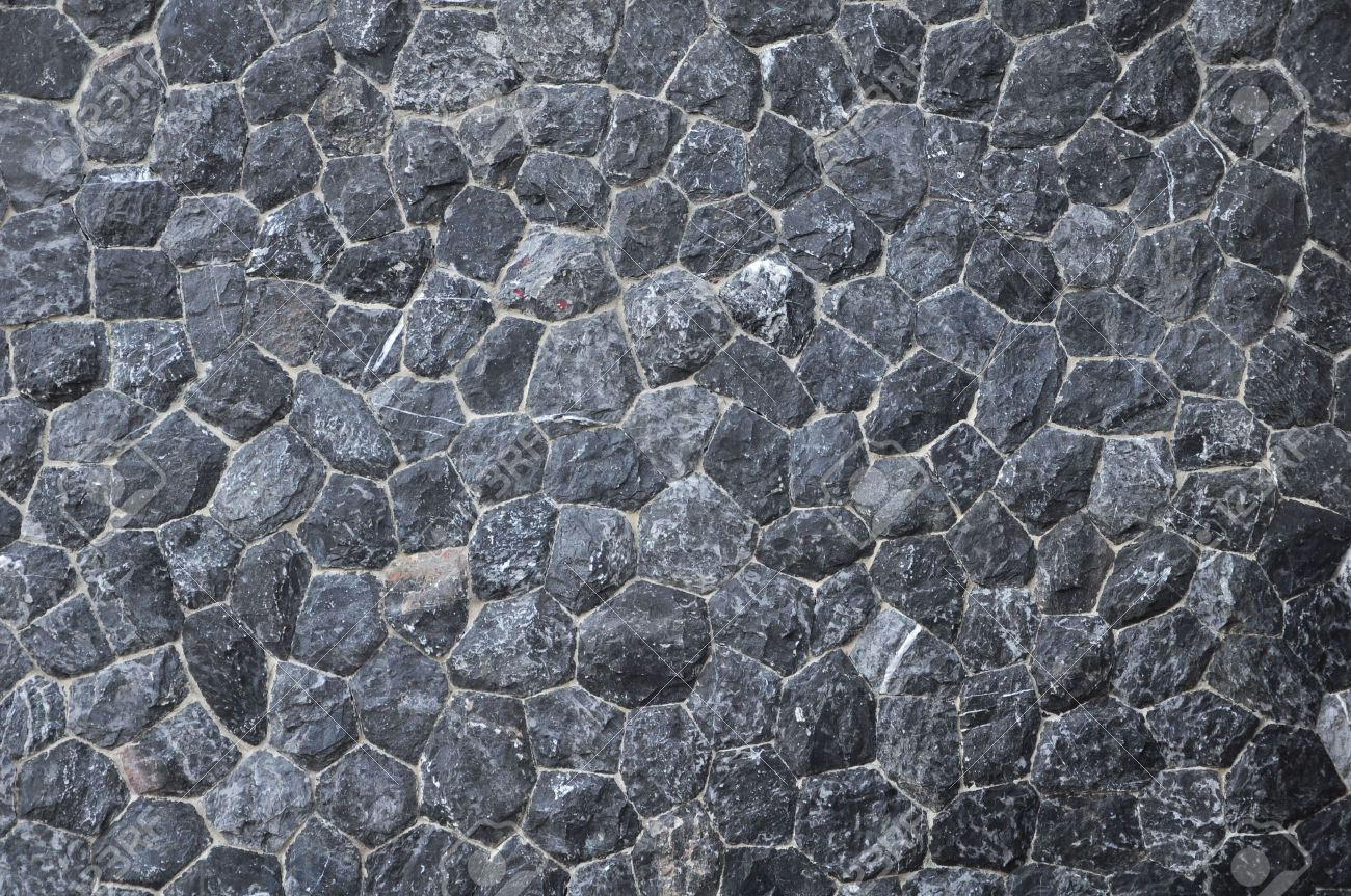 black stone wall texture. Black Stone Texture Stock Photo - 6951740 Wall
