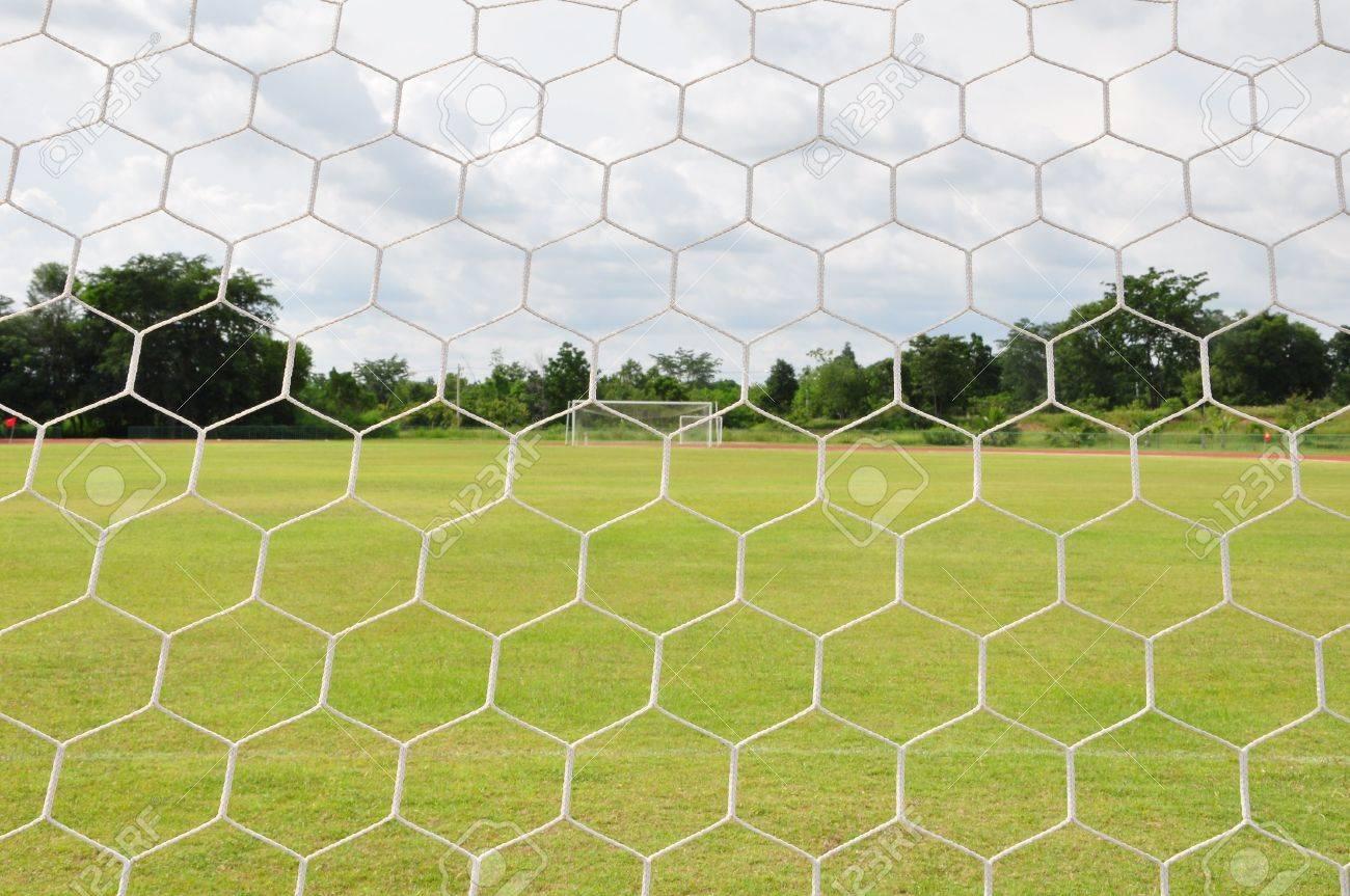 behind Football goal Stock Photo - 7452008