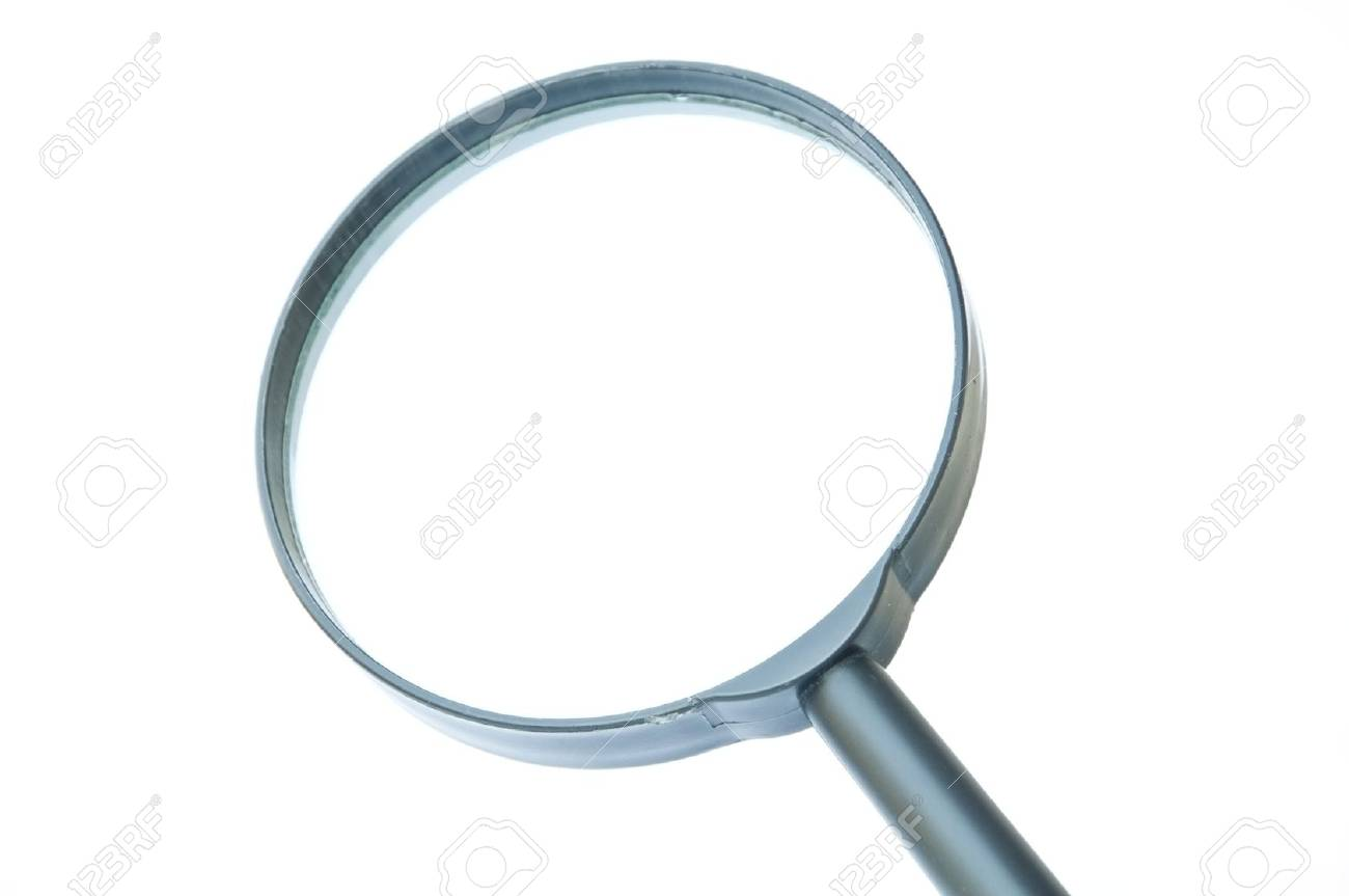 magnifier as white isolate background Stock Photo - 8765893