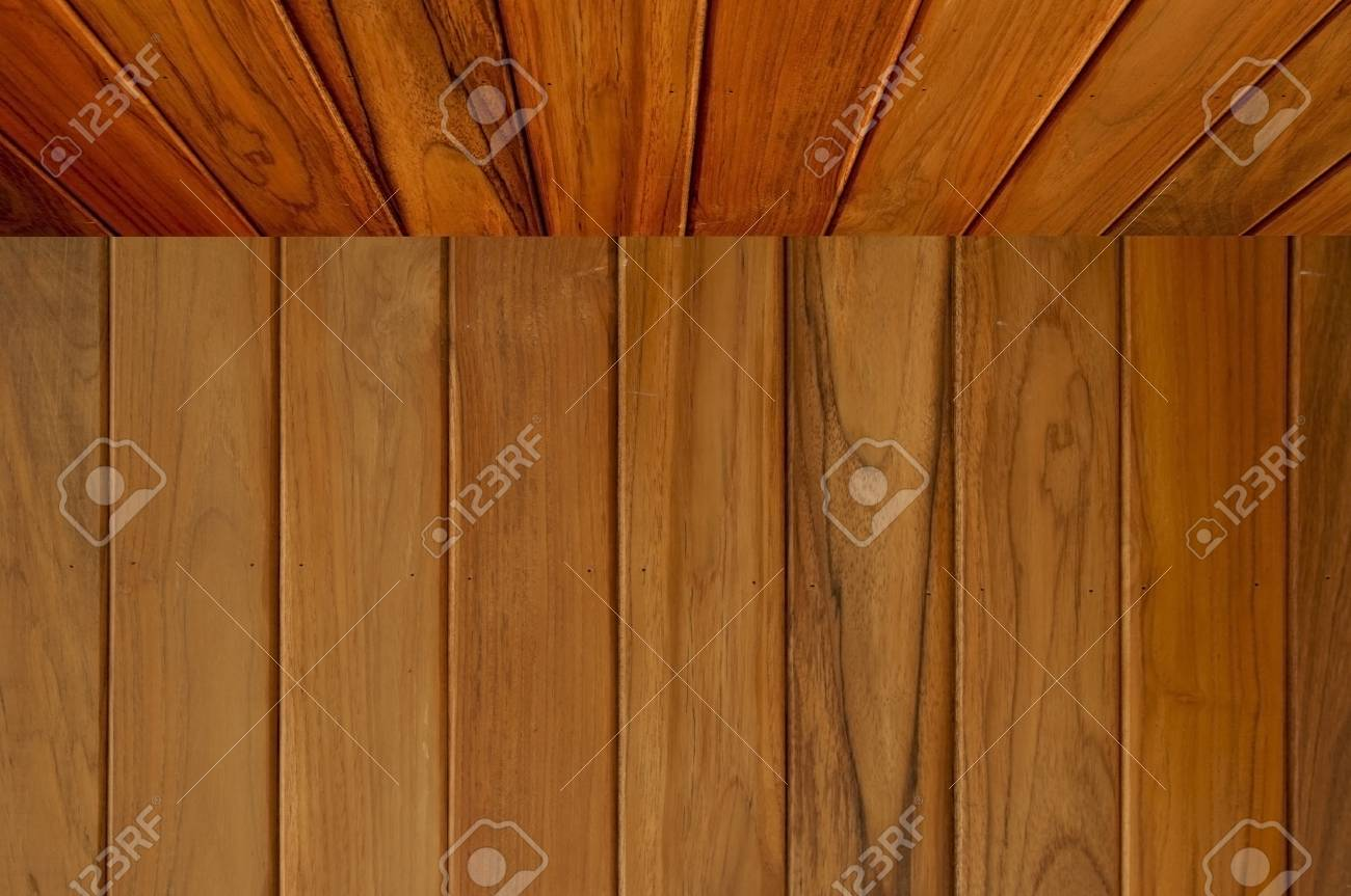 wooden room with panel and texture as top view Stock Photo - 9499488