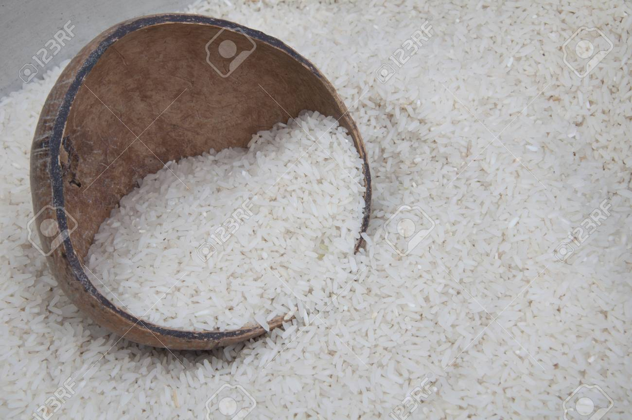 white rice Stock Photo - 12857381