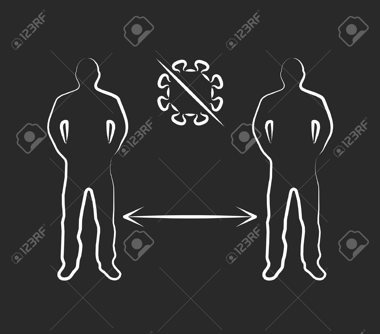 Social distance icon. Epidemic, pandemic, icons, infographics vector - 145121697