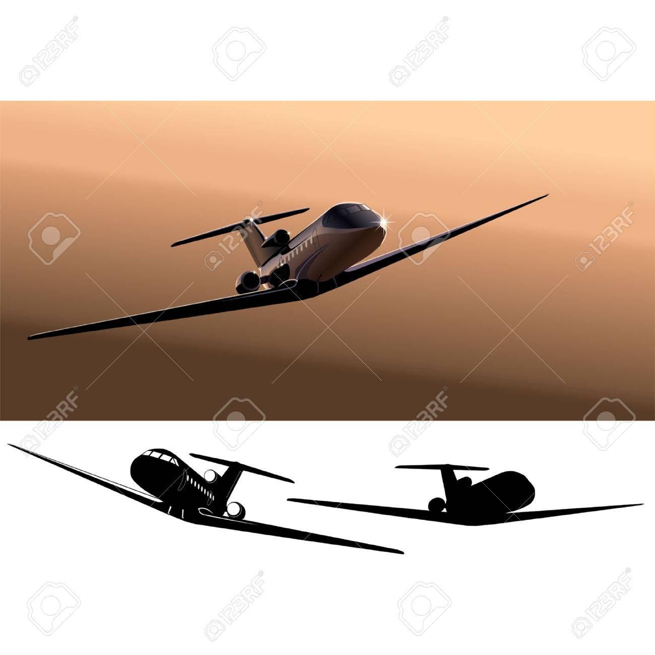 Vector business-jet Stock Vector - 3947741