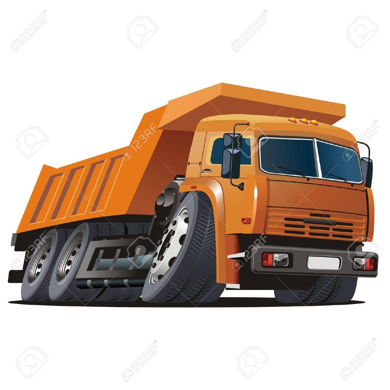 Vector cartoon dump truck Stock Vector - 4334864