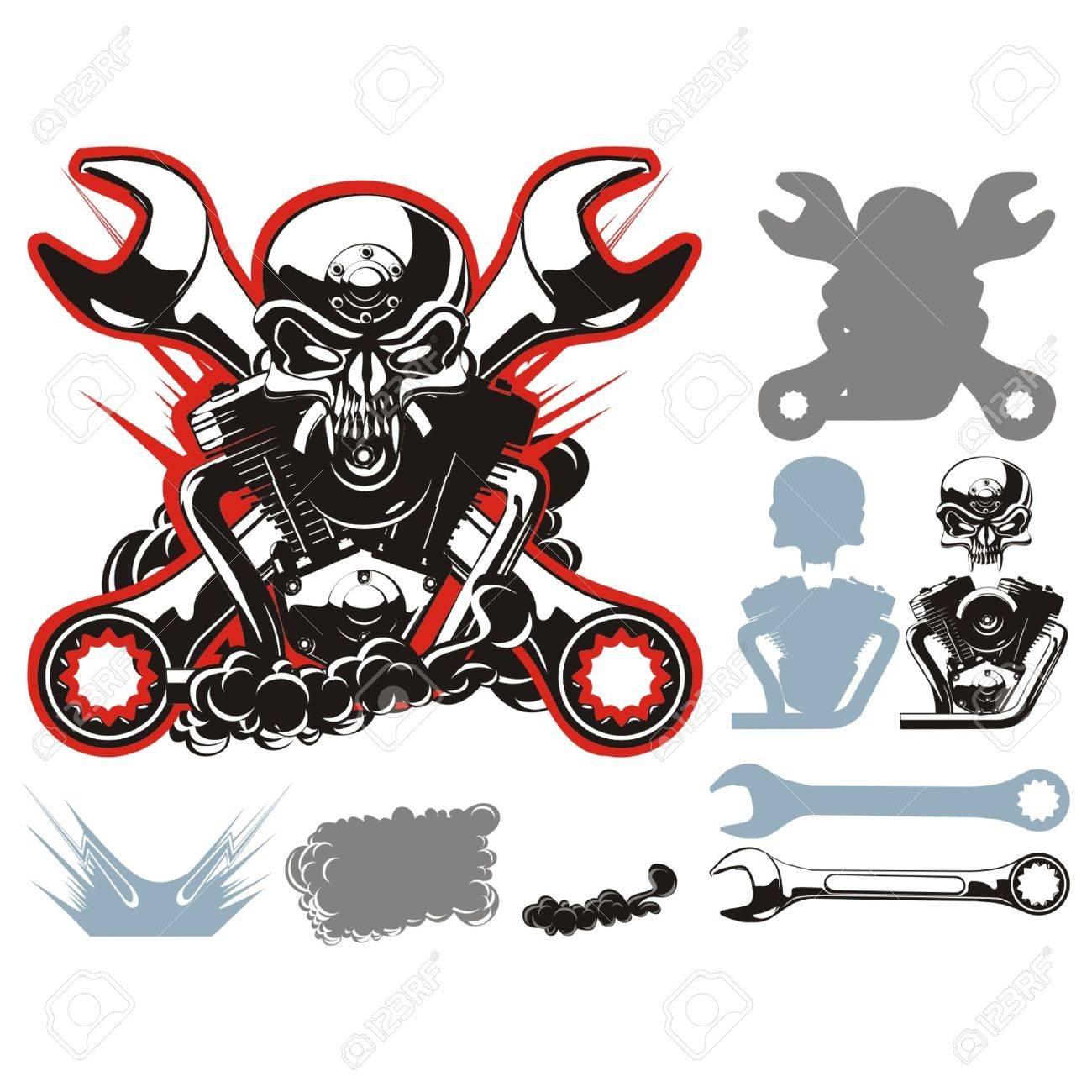 Vector bikers simbols set Stock Vector - 4344097