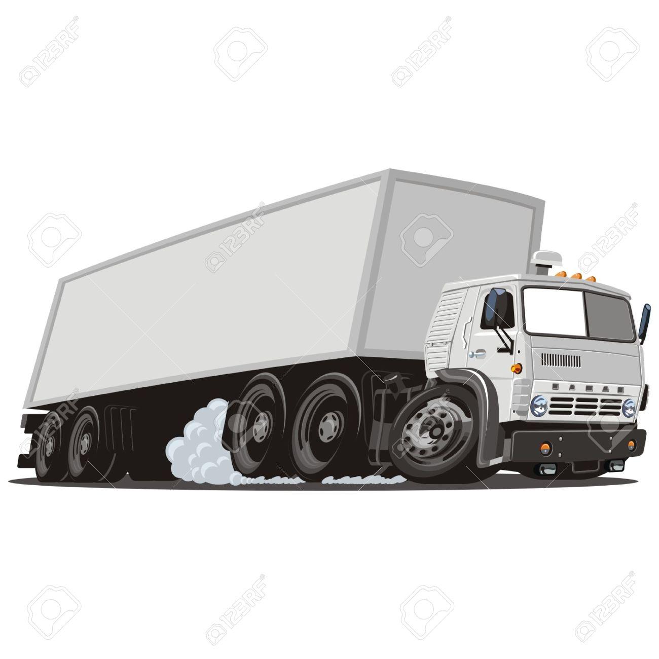 Vector cartoon cargo semi truck Stock Vector - 4908574