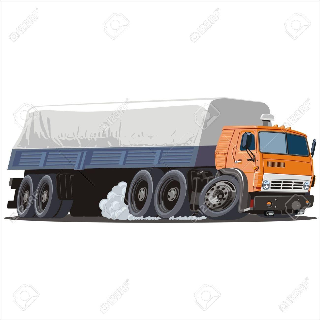 Semi Truck Cartoon Image Semi Truck Vector Cartoon