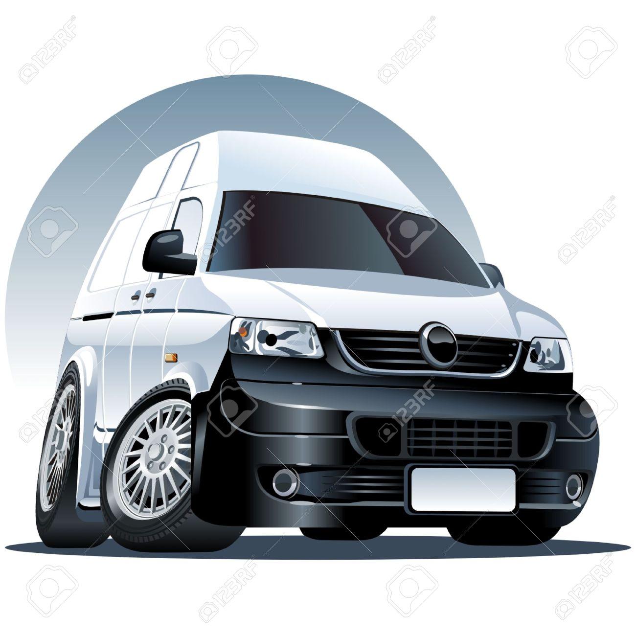 cartoon delivery van Stock Vector - 5968382