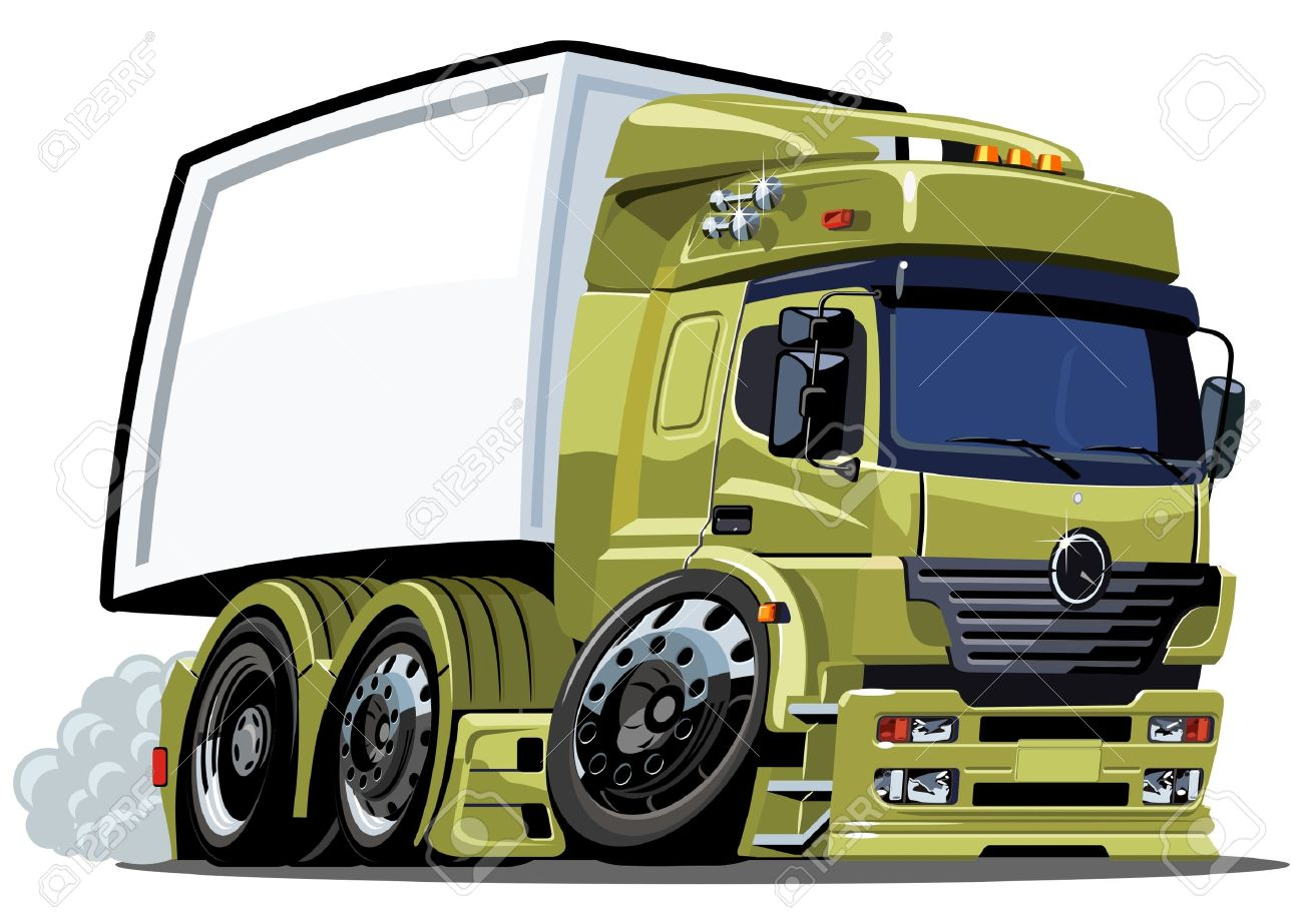 cartoon delivery / cargo truck Stock Vector - 7919912