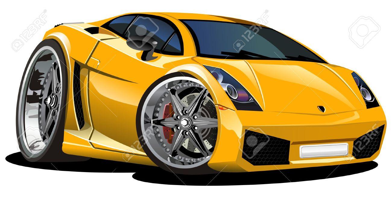 modern cartoon car Stock Vector - 8145542