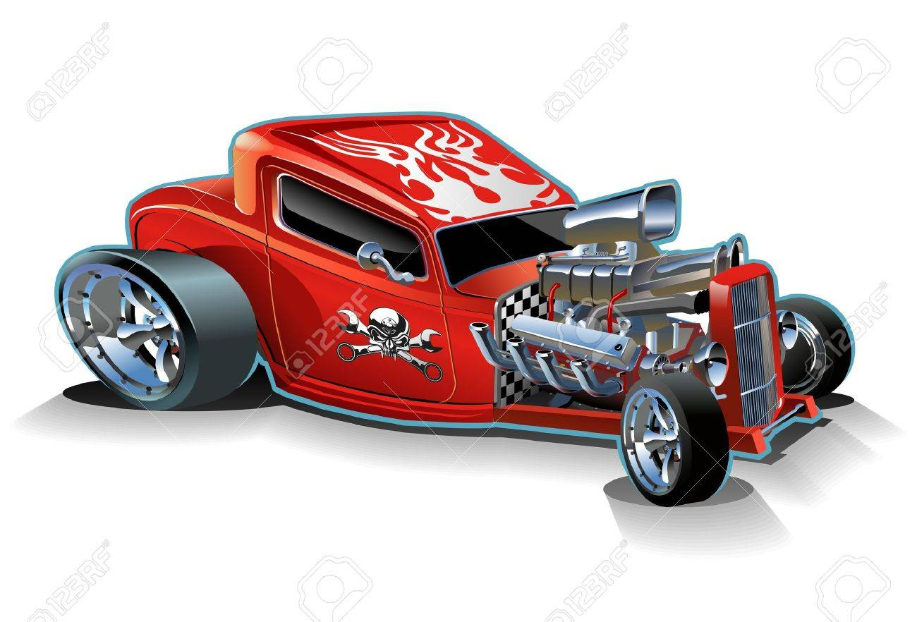 Vector cartoon hotrod Stock Vector - 8245250