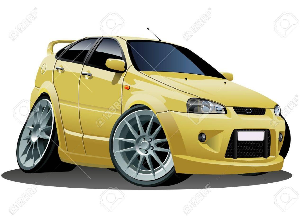 Vector modern cartoon car Stock Vector - 8245251