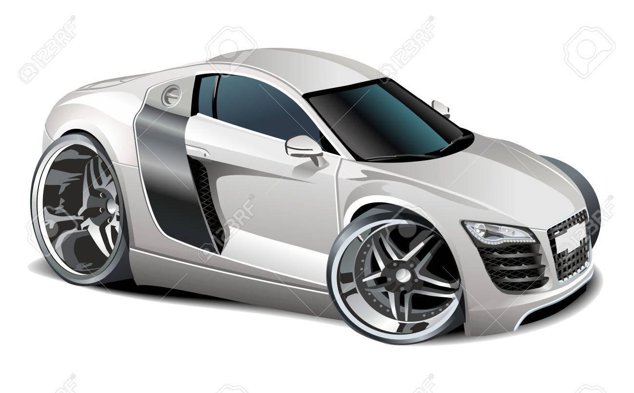 Vector modern cartoon car Stock Vector - 8366995