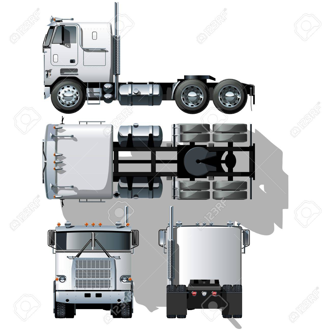 hi-detailed semi-truck - 8859177