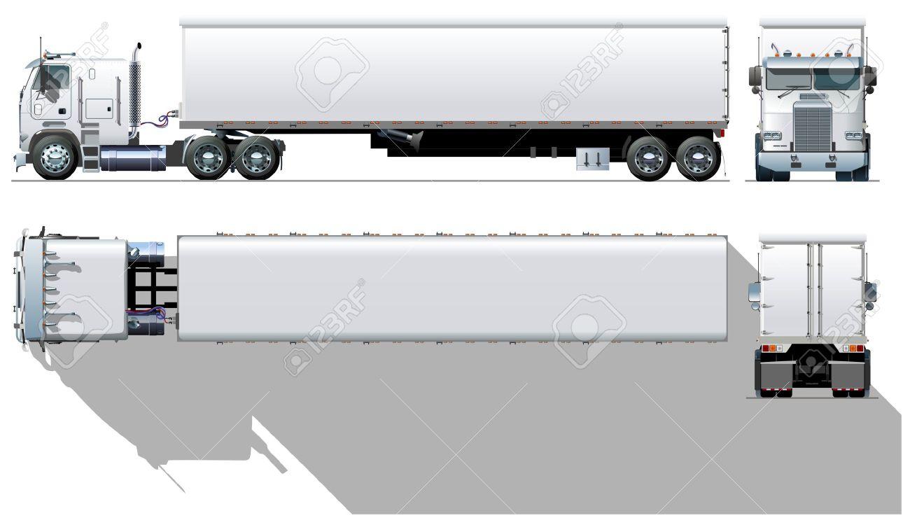 Semi Truck Top View Semi Truck View