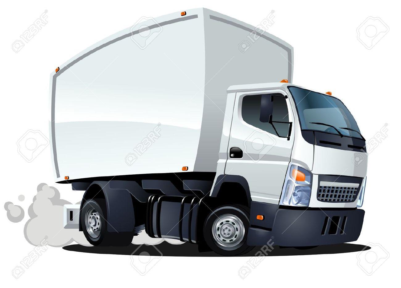 Vecteur De Livraison De Dessin Animé Camion De Cargaison