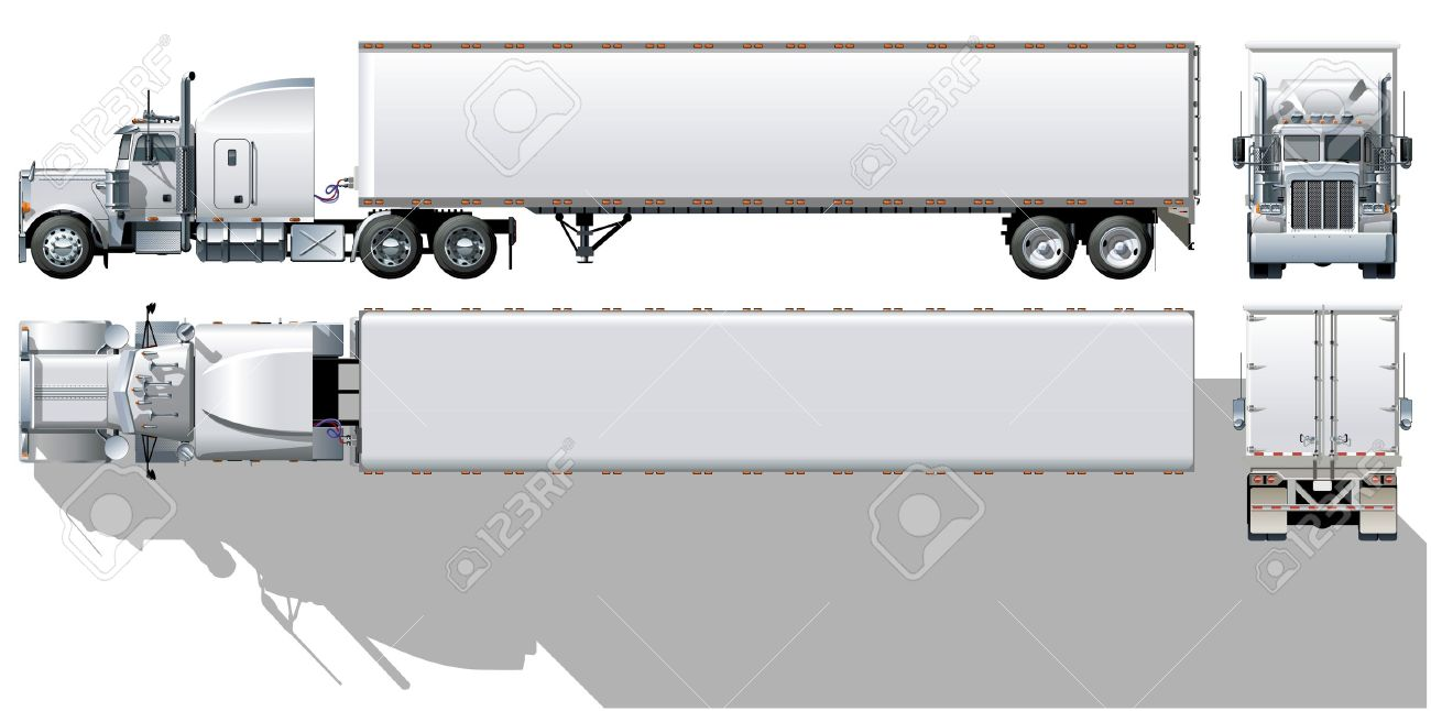 Semi Truck Drawings Semi Truck Drawing Side View