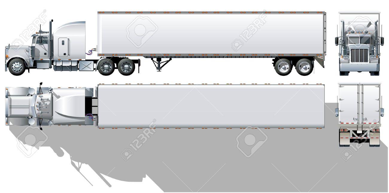 Semi Truck Drawings Semi Truck Drawing Side View